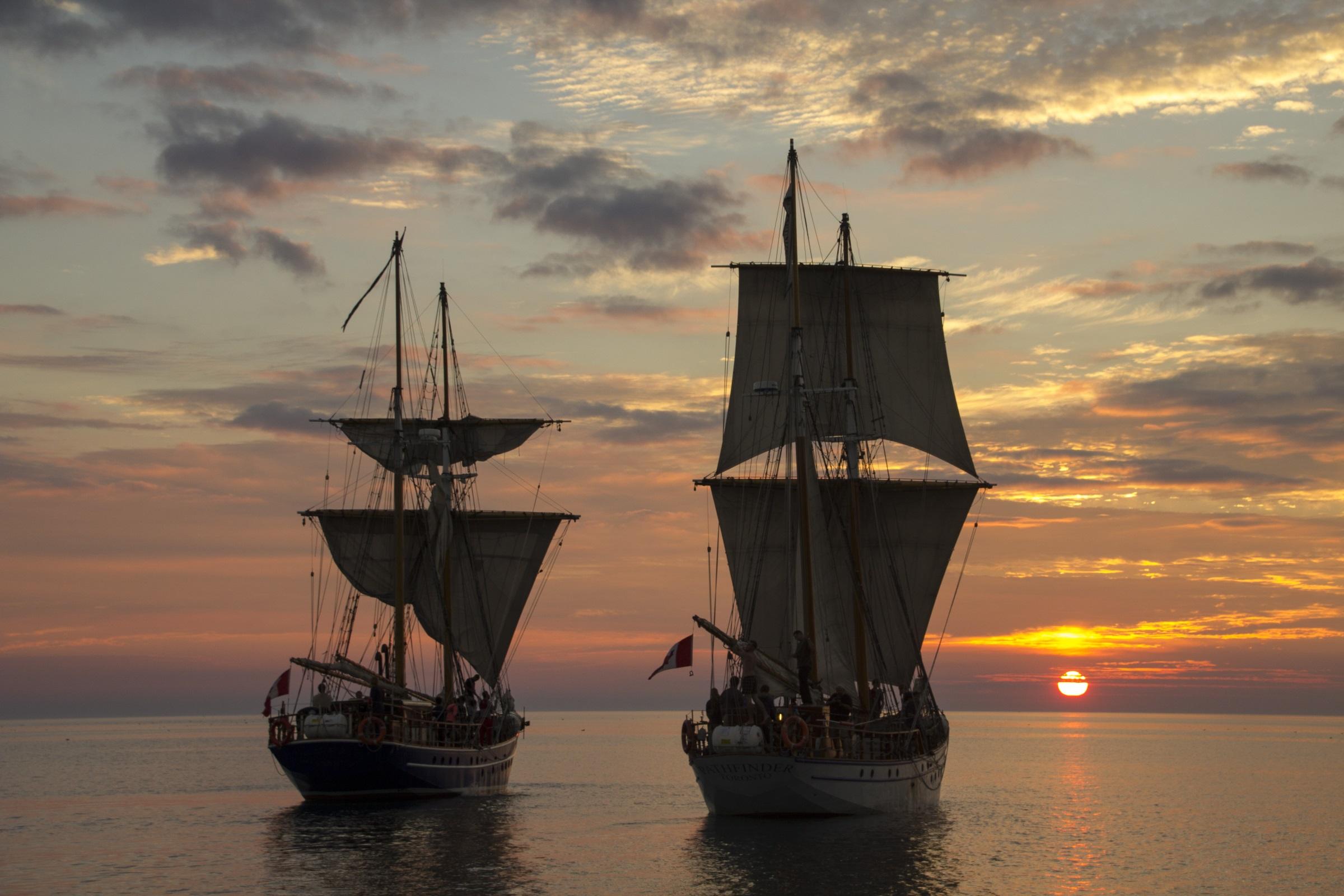 Tall Ships Sunset (Image resized)